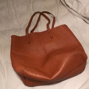 J. Crew brown leather tote